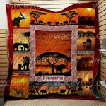 Theartsyhomes Elephants Comeback Home At Sunset 3D Personalized Customized Quilt Blanket ESR15