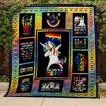 Theartsyhomes Be yourself - 3D Personalized Customized Quilt Blanket ESR29