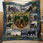Theartsyhomes Camping Animals 3D Personalized Customized Quilt Blanket ESR3
