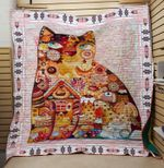 Theartsyhomes Eat cat 3D Personalized Customized Quilt Blanket ESR32