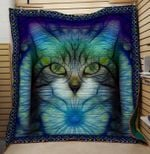 Theartsyhomes Crayzy cat 3D Personalized Customized Quilt Blanket ESR33