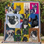 Theartsyhomes Cute French Bull 3D Personalized Customized Quilt Blanket ESR35