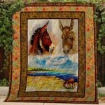 Theartsyhomes Donkey V2 3D Personalized Customized Quilt Blanket ESR49