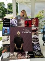 Theartsyhomes Eminem Style Two 3D Personalized Customized Quilt Blanket ESR24