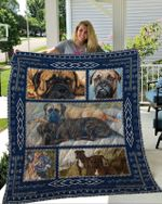 Theartsyhomes Bullmastiff 3D Personalized Customized Quilt Blanket ESR37