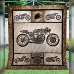 Theartsyhomes Cafe Racer Art Collection Washable Handmade 2911-02 3D Personalized Customized Quilt Blanket ESR36