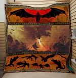 Theartsyhomes Dragon Fire V4 3D Personalized Customized Quilt Blanket ESR7