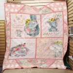 Theartsyhomes Elephant Babygirl F2205 86035 3D Personalized Customized Quilt Blanket ESR12