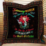 Theartsyhomes February Woman R154 3D Personalized Customized Quilt Blanket ESR40