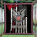 Theartsyhomes Firefighter First Responder Custom 3D Personalized Customized Quilt Blanket ESR38