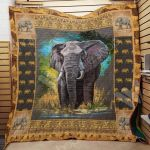 Theartsyhomes Elephant F2704 82o40 3D Personalized Customized Quilt Blanket ESR9