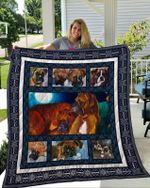 Theartsyhomes Boxer 1 3D Personalized Customized Quilt Blanket ESR46