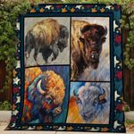 Theartsyhomes Bison V1 3D Personalized Customized Quilt Blanket ESR42