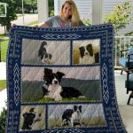 Theartsyhomes Border Collie Qui17003 3D Personalized Customized Quilt Blanket ESR37