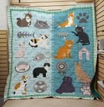 Theartsyhomes Cat hungry 3D Personalized Customized Quilt Blanket ESR42