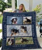 Theartsyhomes Bernese Mountain Dog Qui16003 3D Personalized Customized Quilt Blanket ESR21