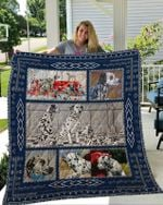 Theartsyhomes Dalmatian 3D Personalized Customized Quilt Blanket ESR49