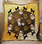 Theartsyhomes Beagle's Paw 3D Personalized Customized Quilt Blanket ESR22