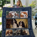 Theartsyhomes Cavalier King Charles Spaniel Qui54001 3D Personalized Customized Quilt Blanket ESR40