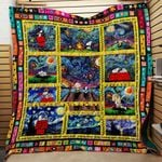 Theartsyhomes Charlie Brown And Snoopy Woodstock Art 3D Personalized Customized Quilt Blanket ESR6