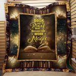 Theartsyhomes Book And Magic V2 3D Personalized Customized Quilt Blanket ESR37