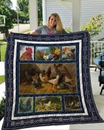 Theartsyhomes Chicken 1 3D Personalized Customized Quilt Blanket ESR49
