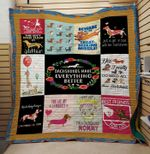 Theartsyhomes Dachshund make averything better 3D Personalized Customized Quilt Blanket ESR3