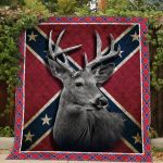 Theartsyhomes Deer On Rebel Flag Printing Htt-Qct00082 3D Personalized Customized Quilt Blanket ESR26