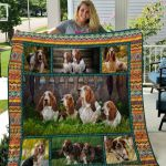 Theartsyhomes Basset Hound Qui15009 3D Personalized Customized Quilt Blanket ESR2