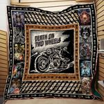 Theartsyhomes Death On Two Wheels Motorcycles Washable Handmade 0312-02 3D Personalized Customized Quilt Blanket ESR49
