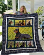 Theartsyhomes Doberman 2 3D Personalized Customized Quilt Blanket ESR13