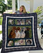 Theartsyhomes English Setter 3D Personalized Customized Quilt Blanket ESR42