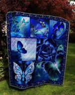 Theartsyhomes BUTTERFLY FLOWER 3D Personalized Customized Quilt Blanket ESR7