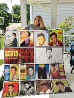 Theartsyhomes Elvis Presley Three 3D Personalized Customized Quilt Blanket ESR4