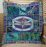 Theartsyhomes Dragonfly V19 3D Personalized Customized Quilt Blanket ESR50