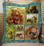 Theartsyhomes Bear: Family V1 3D Personalized Customized Quilt Blanket ESR35