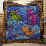 Theartsyhomes Dragon 3D Personalized Customized Quilt Blanket ESR12
