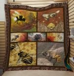 Theartsyhomes Bee Flower V1 3D Personalized Customized Quilt Blanket ESR24