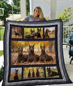 Theartsyhomes Doberman Qui19004 3D Personalized Customized Quilt Blanket ESR28