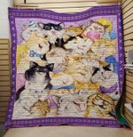 Theartsyhomes Cat smile 3D Personalized Customized Quilt Blanket ESR16