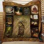 Theartsyhomes Book Tree V2 3D Personalized Customized Quilt Blanket ESR28
