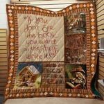Theartsyhomes Book Writer D1201 85o32 3D Personalized Customized Quilt Blanket ESR42