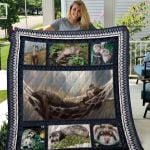 Theartsyhomes Ferret Quiani20003 3D Personalized Customized Quilt Blanket ESR8