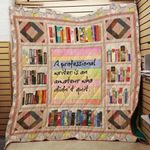 Theartsyhomes Book Writer Quit 3D Personalized Customized Quilt Blanket ESR7