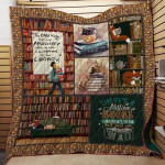 Theartsyhomes Book N2704 82o03 3D Personalized Customized Quilt Blanket ESR44