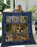 Theartsyhomes English Setter 2 3D Personalized Customized Quilt Blanket ESR40