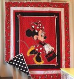 Theartsyhomes Cute Minnie Fabric 3D Personalized Customized Quilt Blanket ESR39