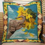 Theartsyhomes Elephant 4 3D Personalized Customized Quilt Blanket ESR3