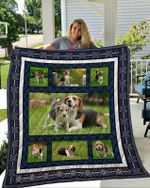Theartsyhomes Beagle 3 3D Personalized Customized Quilt Blanket ESR33