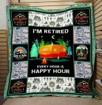 Theartsyhomes Camping: Happy Hour 3D Personalized Customized Quilt Blanket ESR7